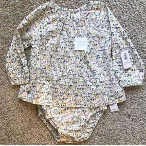NWT 2 piece set tunic & bubble short/diaper cover